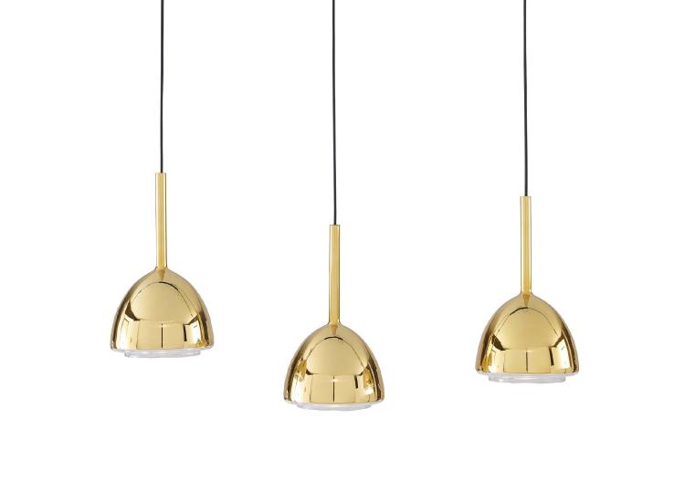 Linge Roset Brass Bell Suspended Lights