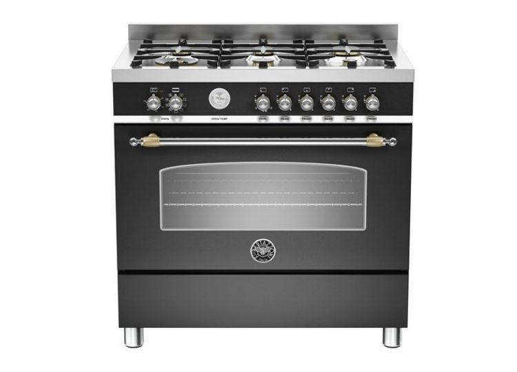 Bertazzoni Heritage 90cm 6-Burner + Electric Oven (Nero Matt)
