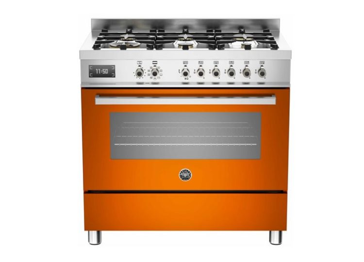 est living bertazzoni professional 90cm 6 burner electric oven arancio 750x540