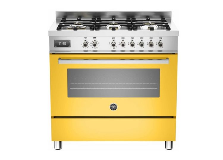 Bertazzoni Professional 90cm 6-Burner + Electric Oven (Giallo)