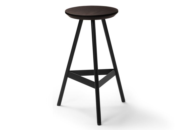 Biasol Tre Mezzo Dark Stain Timber Stool