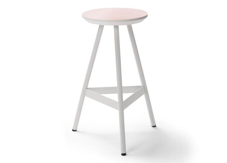 est living biasol tre mezzo edge painted timber stool 750x540