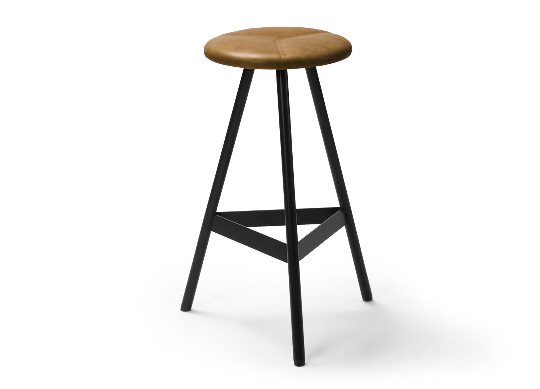 est living biasol tre mezzo leather upholstery stool