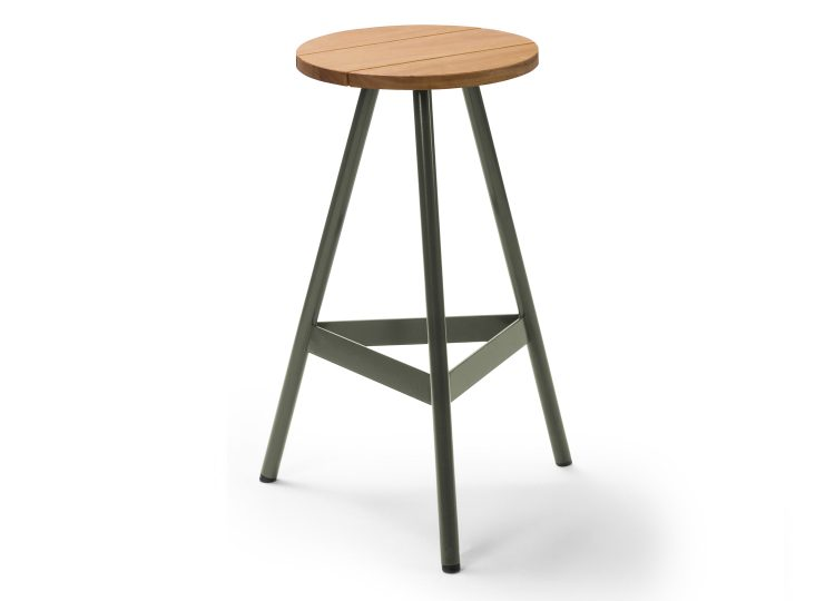 Biasol Tre Mezzo Outdoor Stool (Blackbutt Timber)