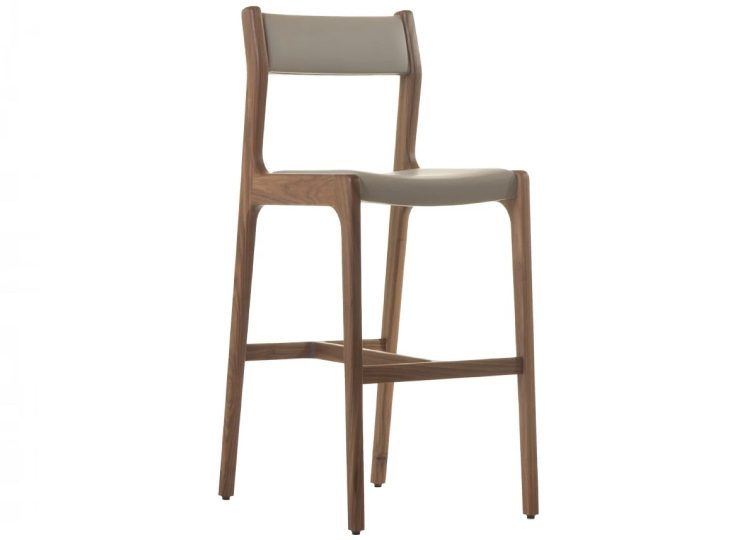 De La Espada Deer Armless Bar Stool