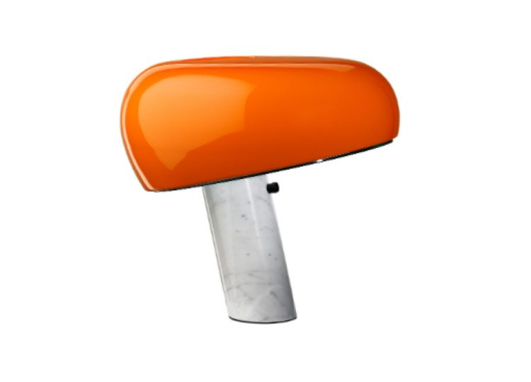 est living flos snoopy table lamp in orange 750x540