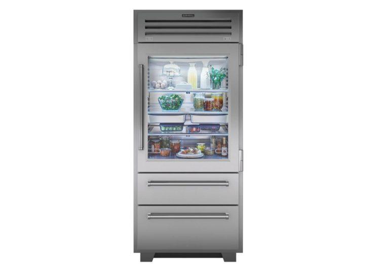 est living sub zero pro series refrigerator freezer with glass door 750x540