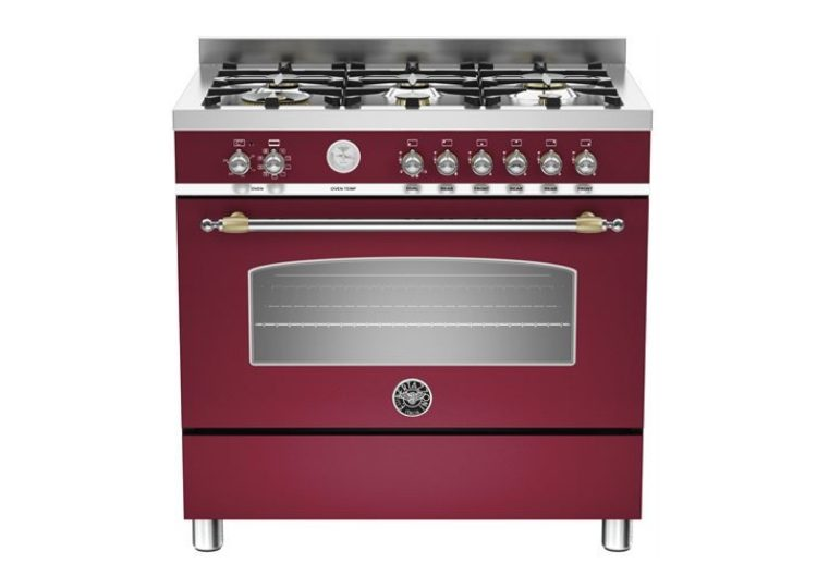 Bertazzoni Heritage 90cm 6-Burner + Electric Oven (Nero Vino)