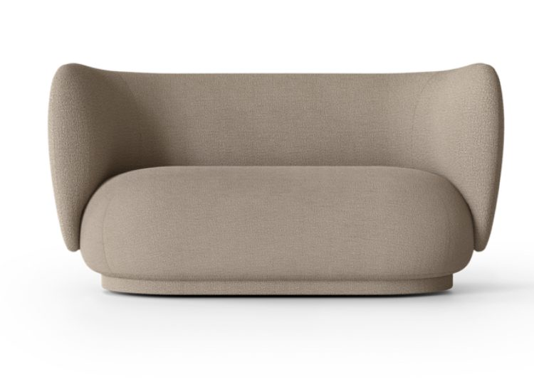 Ferm Living Rico Sofa 2 Seater (Boucle Sand)