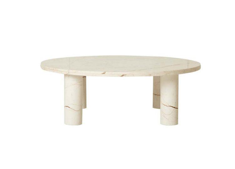 Globewest Amara Round Leg Coffee Table  (Brown Vein Marble)