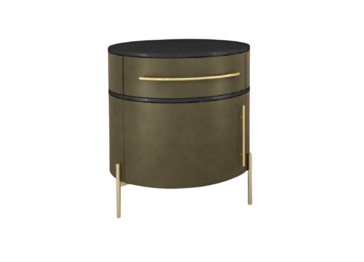 Baxter Plisse Bedside Table