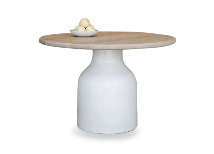 Specified Store Bottle Base Round Dining Table