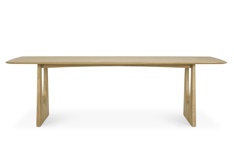 Ethnicraft Oak Geometric Dining Table