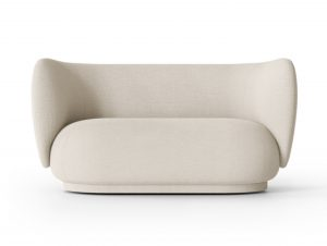 Ferm Living Rico Sofa 2 Seater (Boucle Off-White)