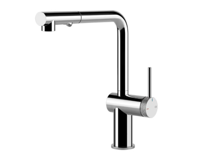 Gessi Inedito Pull Out Dual Function Kitchen Mixer