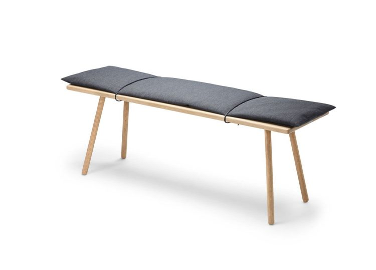 Skagerak Georg Bench (Oak/Dark Grey)