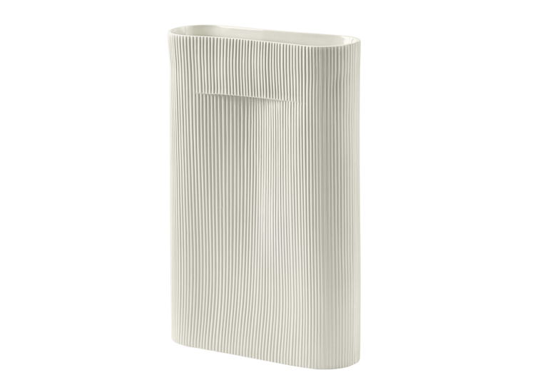Mutto Ridge Vase (White)
