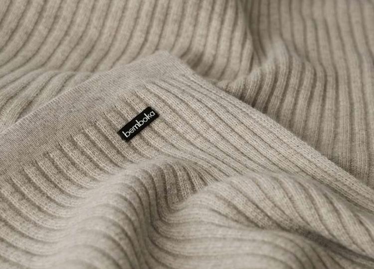 Bemboka Reversible Rib Angora & Merino Wool Blanket