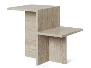 Ferm Living Distinct Travertine Side Table