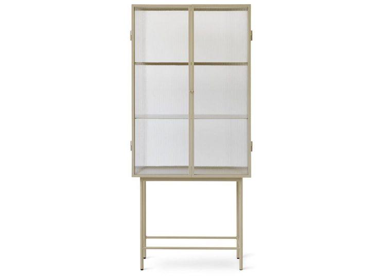 Ferm Living Haze Vitrine Reeded Glass Cabinet