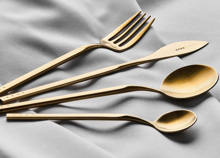 Krof Brushed Gold 24pc Cutlery Set