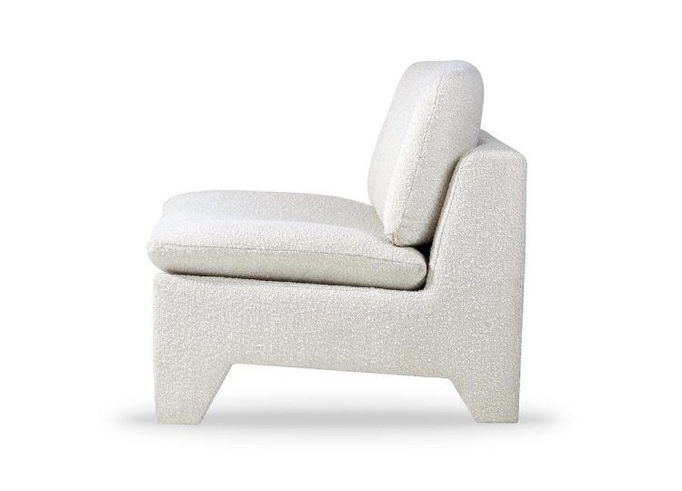 HKliving Retro Lounge Fauteuil (Boucle Cream)