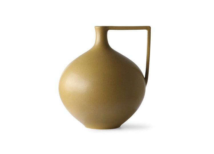 HKliving Ceramic Jar L (Mustard)