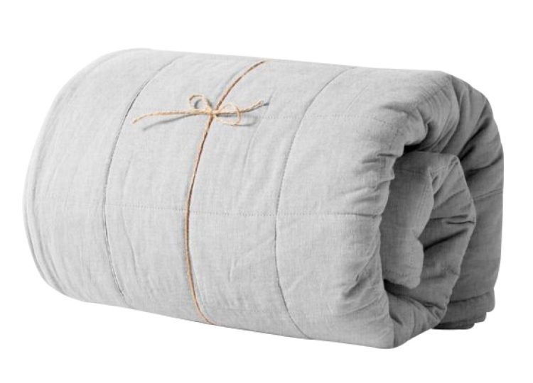 Aura Home Chambray Bed Cover Dove