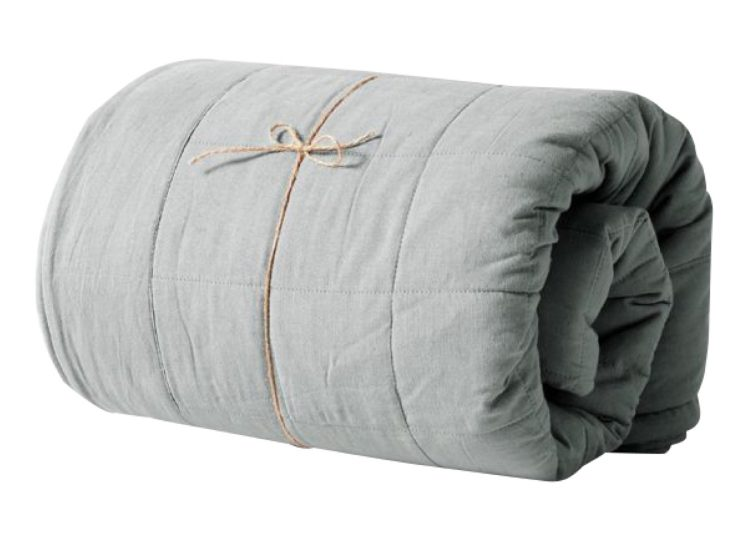 Aura Home Maison Vintage Bed Cover Limestone