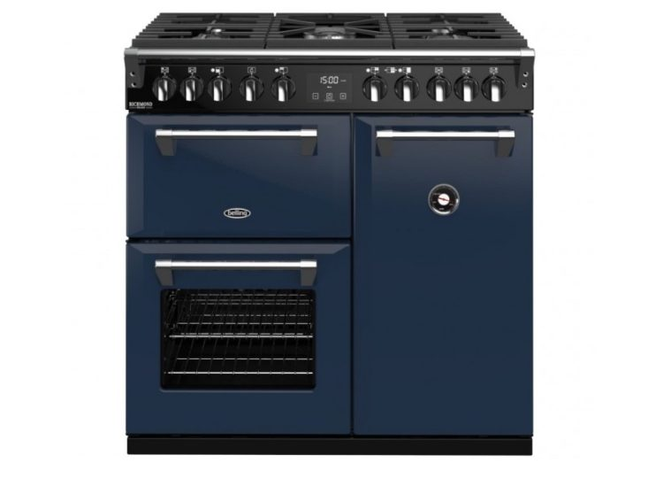Belling Colour Boutique Deluxe 90cm Dual Fuel Range Cooker – Midnight Blue