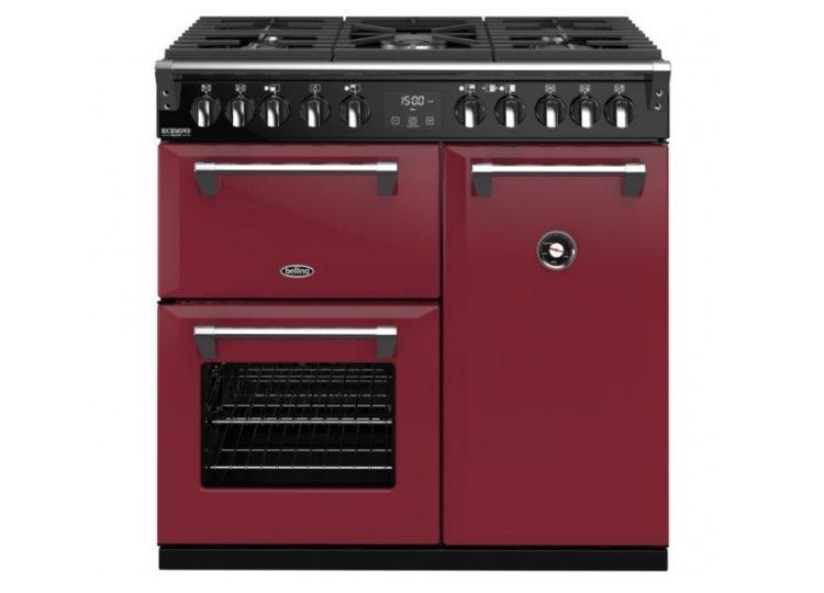 Belling Colour Boutique Deluxe 90cm Dual Fuel Range Cooker – Chilli Red