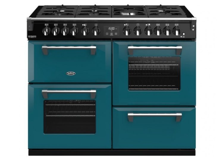 Belling Colour Boutique Deluxe 110cm Dual Fuel Range Cooker – Kingfisher Teal