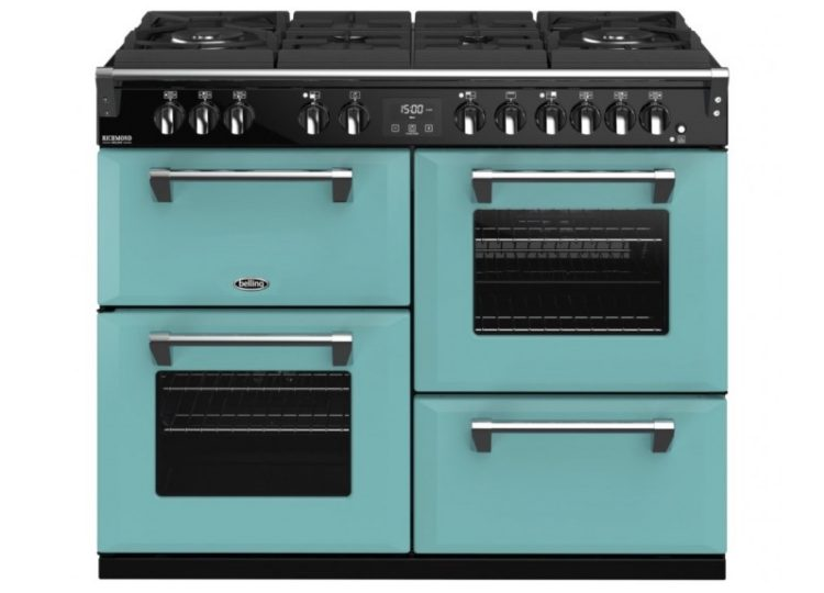 Belling Colour Boutique Deluxe 110cm Gas-Through-Glass Range Cooker – Country Blue