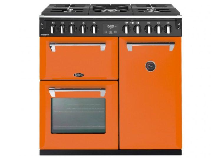 Belling Colour Boutique Deluxe 90cm Induction Range Cooker – Peach Blush
