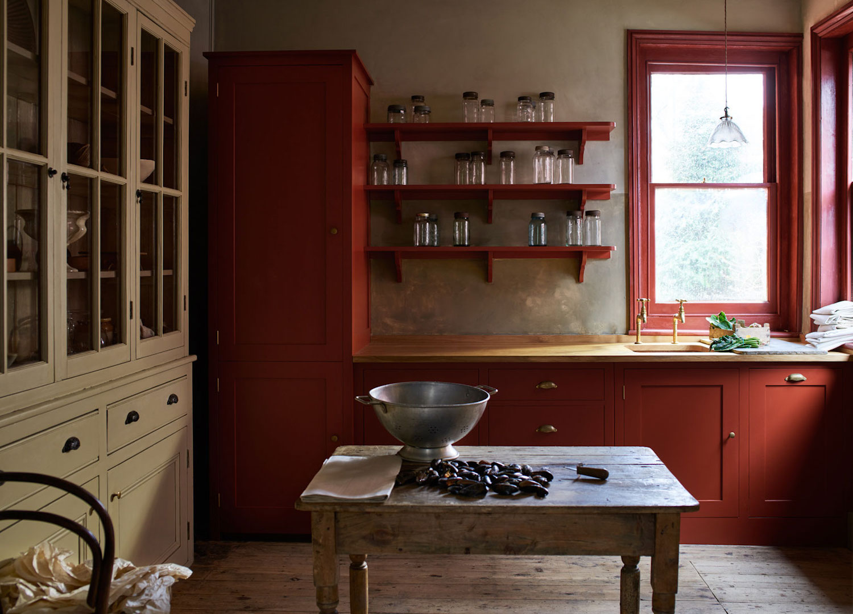 est living belling shaker kitchen chilli red 1