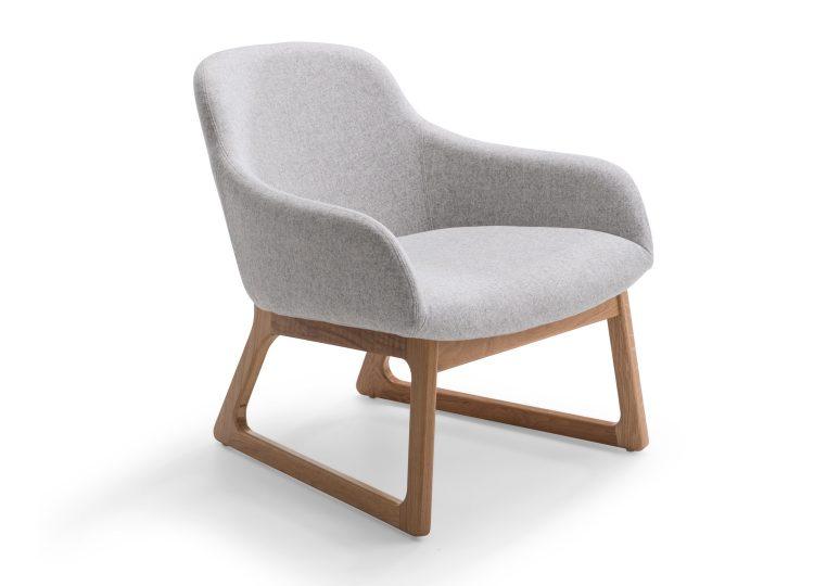 Didier Tiller Oak Lounge Chair