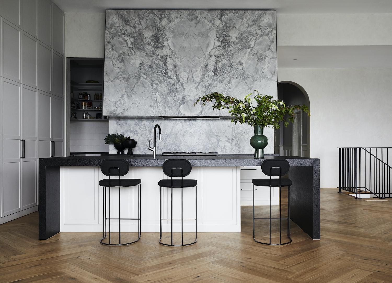 est living kitchen closeup kew house kate walker design 1