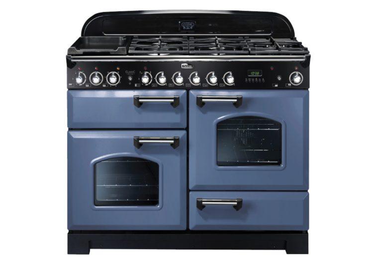 Falcon Classic Deluxe 110cm Dual Fuel Range Cooker (Stone Blue & Chrome)
