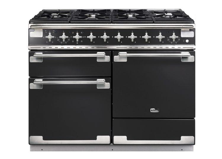 Falcon Elise 110cm Dual Fuel Range Cooker (Charcoal Black & Brushed Nickel)