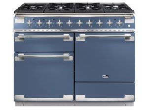 Falcon Elise 110cm Dual Fuel Range Cooker (Stone Blue & Brushed Nickel)