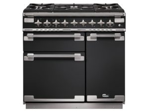 Falcon Elise 90cm Dual Fuel Rance Cooker (Charcoal Black & Brushed Nickel)