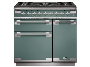 Falcon Elise 90cm Dual Fuel Rance Cooker (Mineral Green & Brushed Nickel)