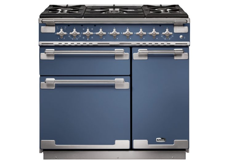 Falcon Elise 90cm Dual Fuel Rance Cooker (Stone Blue & Brushed Nickel)