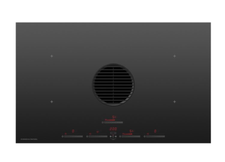 Fisher & Paykel Series 9 | Minimal 83cm Induction Cooktop 4 Zones with Integrated Ventilation