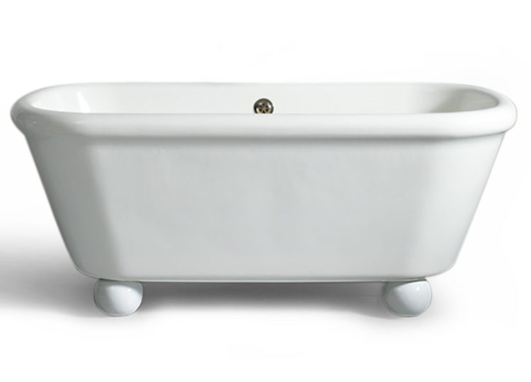 The Water Monopoly Rockwell Bath in White with White Feet