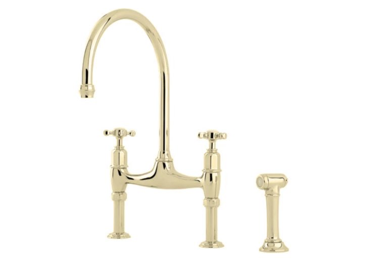Perrin & Rowe Ionian Two Hole Bench Mounted Mixer