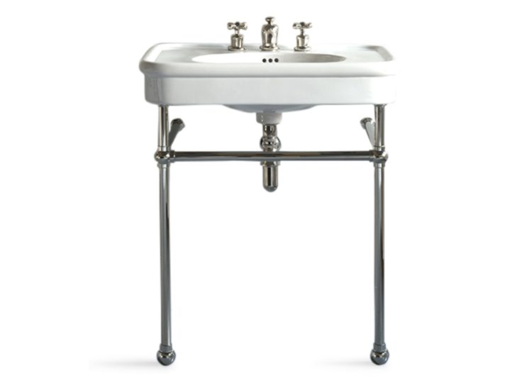 Water Monopoly Rockwell 610mm White Basin on Basin Stand