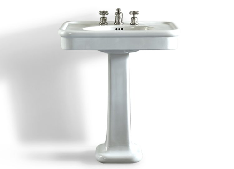 Water Monopoly Rockwell 610mm White Basin on Pedestal
