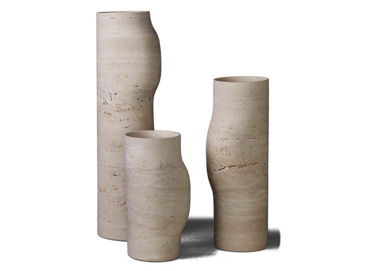 Collection Particulière BOS Vase Travertine