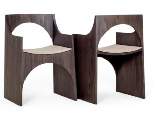 Ondene CLE Chair with Leather Seat Pad